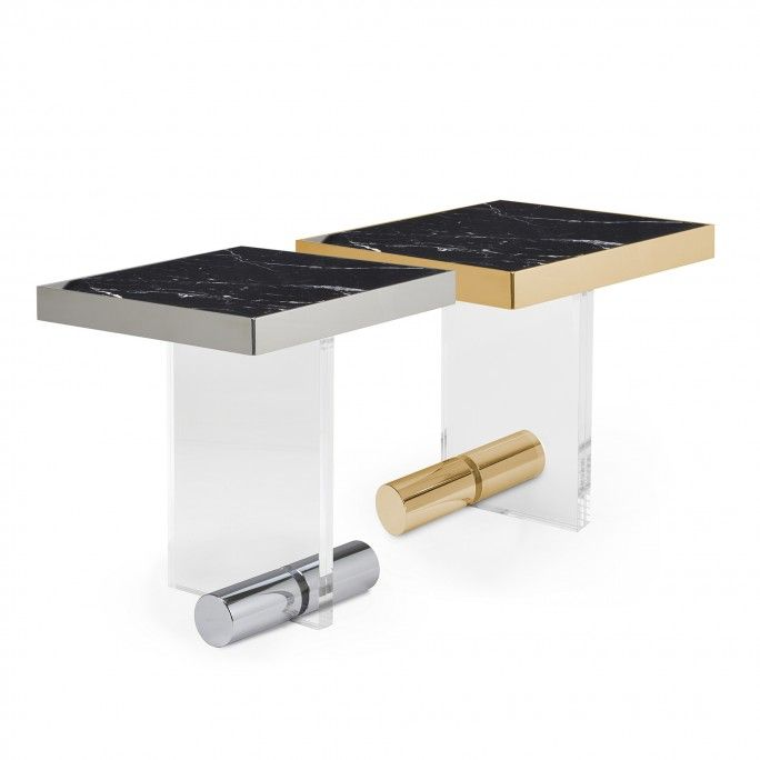 KANDINSKY SIDE TABLE SQUARE ACRYLIC GOLD