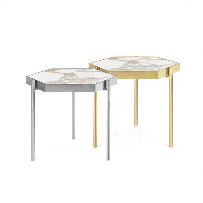 KANDINSKY SIDE TABLE HEXAGONAL GOLD