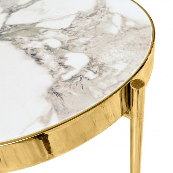 KANDINSKY SIDE TABLE ROUND GOLD