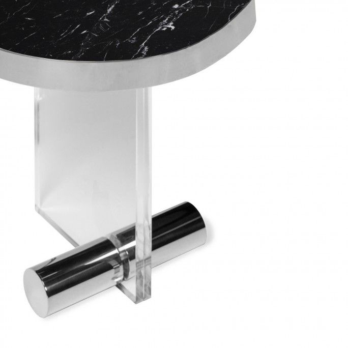 KANDINSKY SIDE TABLE ROUND ACRYLIC