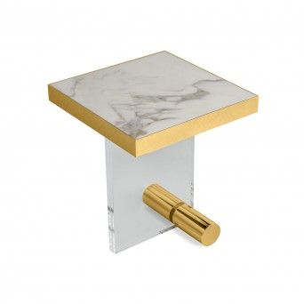 TABLE D?APPOINT KANDINSKY SQUARE ACRYLIC GOLD