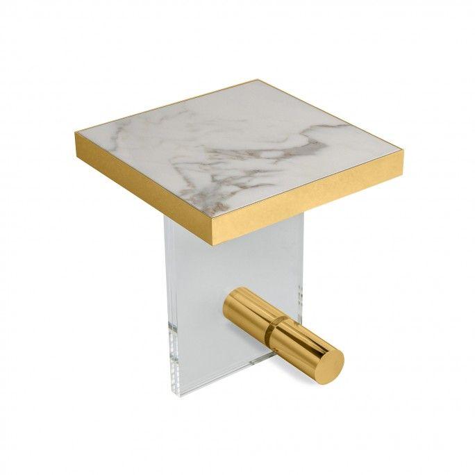 KANDINSKY SIDE TABLE SQUARE ACRYLIC GOLD