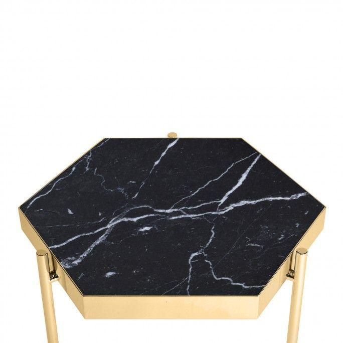 KANDINSKY SIDE TABLE HEXAGONAL GOLD