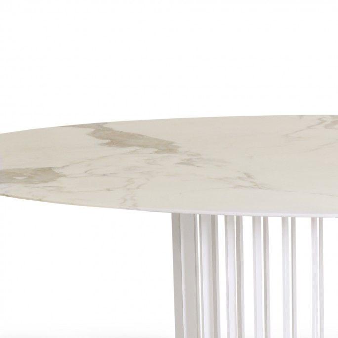 ORBITER DINING TABLE ELLIPTICAL ALL WHITE