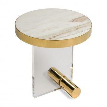 KANDINSKY SIDE TABLE ROUND ACRYLIC GOLD