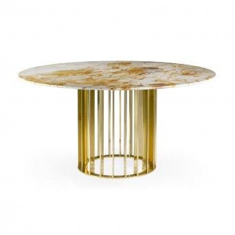 ORBITER DINING TABLE GOLD Ø1500 mm