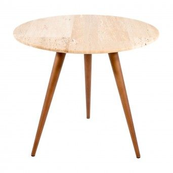 FIKA SIDE TABLE | TRAVERTINO PATCHWORK