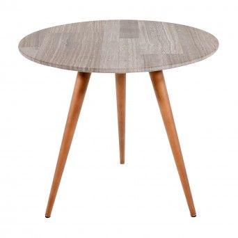 FIKA SIDE TABLE | TEAK WOOD GREY