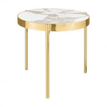 KANDINSKY SIDE TABLE ROUND GOLD