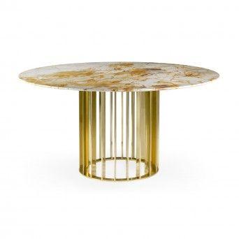ORBITER DINING TABLE GOLD Ø1500 mm