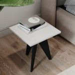 CLASSIC SIDE TABLE   CRYSTAL WHITE